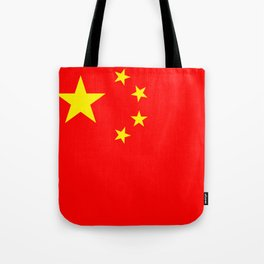 Chinese Flag Sticker & More Tote Bag
