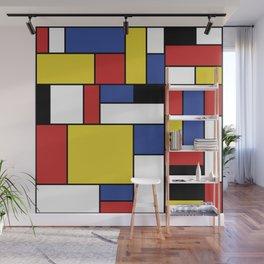 Mondrian Geometric Art Wall Mural