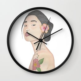 Chinese girl Wall Clock