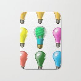 Lightbulbs Of A Differnt Color Bath Mat