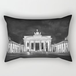 BERLIN Brandenburg Gate | Monochrome Rectangular Pillow