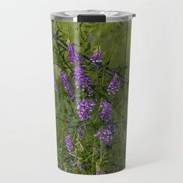 Purple Alfalfa flowers Travel Mug