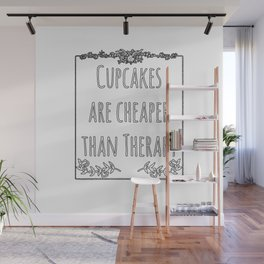 Cupcake Therapy Muffin Sprinkles Topping Sweet Cake Wall Mural