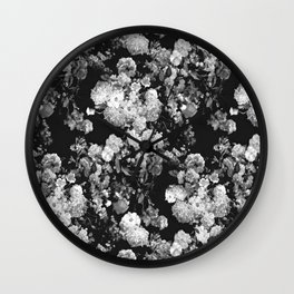 Through The Flowers // Floral Collage Wall Clock