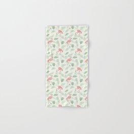 Flamingo Love Tropical Hand & Bath Towel