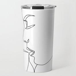 """Profile Collection"" - Woman Drinking Coffee Travel Mug"