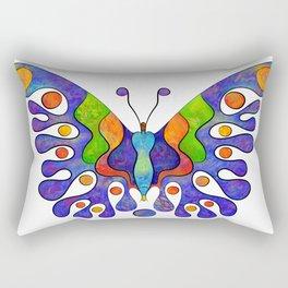 Elenissina - colourful butterfly Rectangular Pillow