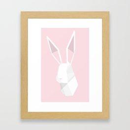 Geometric Rabbit Framed Art Print