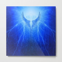 Vikings Valkyrie Wings of Protection Storm Metal Print