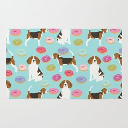 Beagle donuts cute gifts for pure breed dog lover beagles owners Rug