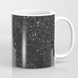 Modern chic elegant trendy faux black glitter Coffee Mug