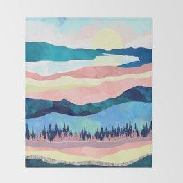 Winter Sunset Throw Blanket