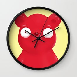 scared face bear Wall Clock