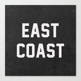 East Coast - black Canvas Print