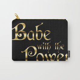 Labyrinth Babe With The Power (black bg) Carry-All Pouch