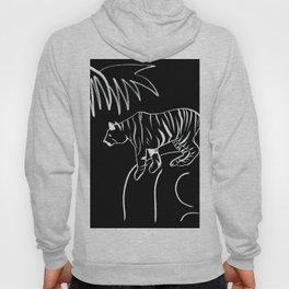 Tiger On The Rock - Black & White Palette Hoody