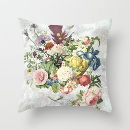 A Flowering Flourish, spring, burgeon, burst! Throw Pillow
