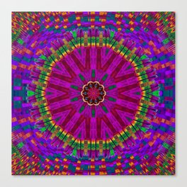 Peacock flower in colors Canvas Print