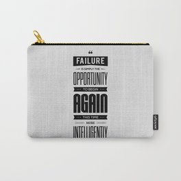 Lab No. 4 - Failure is simply the opportunity Henry Ford Success Inspirational Quotes Poster Carry-All Pouch