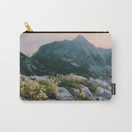 Mountain flowers at sunrise Carry-All Pouch