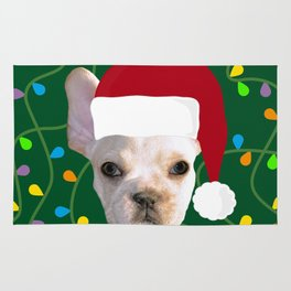 French Bulldog Santa Rug