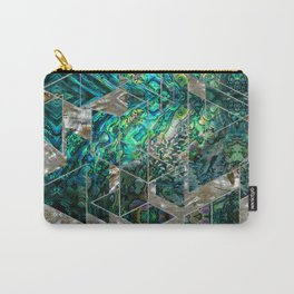 Abstract Geometric Abalone and Mother of pearl Carry-All Pouch