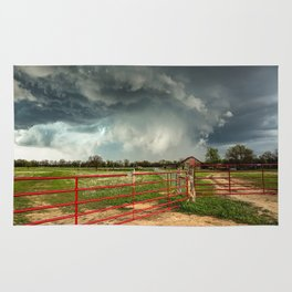 The Red Gates - Storm Passes By Farm in Kansas Rug