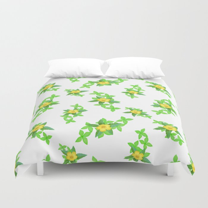 Airy Floral Pattern Duvet Cover