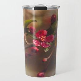 Red Blossoms Travel Mug