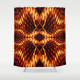 Fire Origami on Burnt Orange,Yellow,Brown Shower Curtain
