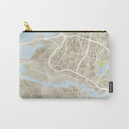 Oakland California Watercolor Map Carry-All Pouch