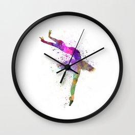 Woman ballerina ballet dancer dancing  Wall Clock