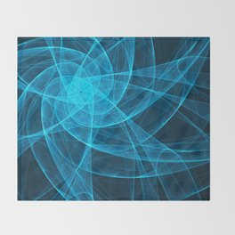 Tulles Star Computer Art in Blue Throw Blanket