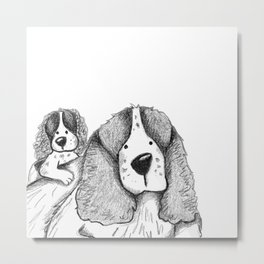 Velcro Dog Metal Print