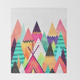 Land of Color Throw Blanket