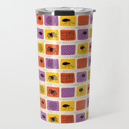 Creepy Halloween Spider Cartoon Pattern Travel Mug