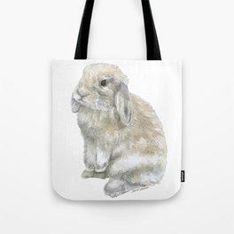 Lop Rabbit Watercolor Painting Bunny Tote Bag