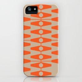 abstract eyes pattern orange tan iPhone Case