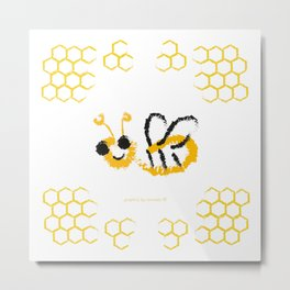 Happy bee Metal Print