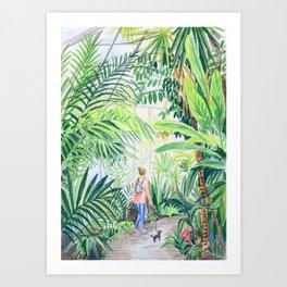 nice walk Art Print