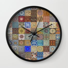 Persian Art Montage Wall Clock