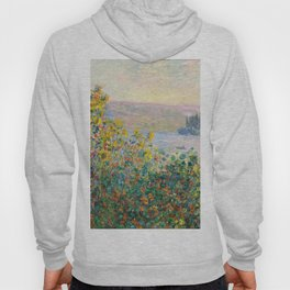 Flower Beds at Vétheuil by Claude Monet 1881 Hoody
