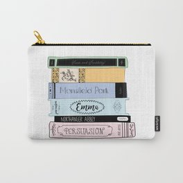 Jane Austen Book Stack in Colour Carry-All Pouch
