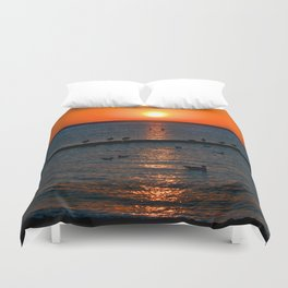 Summer Sunset on the Baltic Sea Duvet Cover