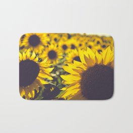 Summer Sunflower Love Bath Mat