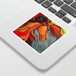 Wild Horse Breaking Free Southwestern Style Sticker