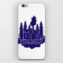 Walden - Henry David Thoreau (Blue version) iPhone Skin