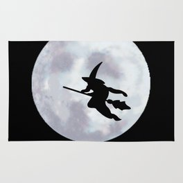 Witch, Witch Flying Across the Moon Rug