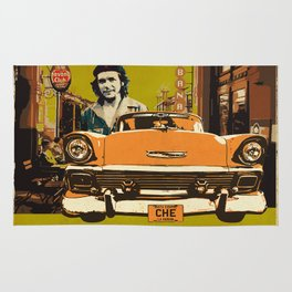 Retro Cuba design with car & Che Guevara Rug