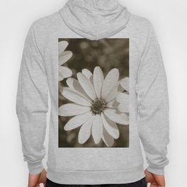 Monochrome Daisy - Botanical Photography Hoody